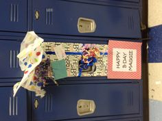 My friends decorated my locker for my birthday a few weeks ago. They are creative! Thanks y'all!!