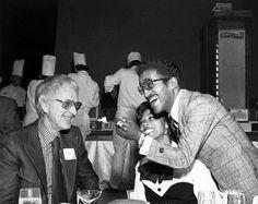 William Harrah and Sammy Davis Jr. at Harrah's Casino, Reno, NV, 1960s.