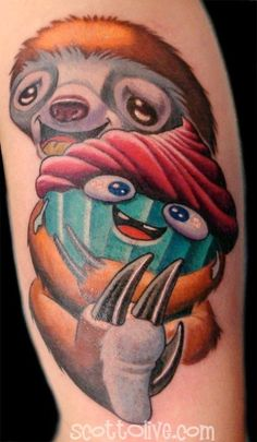 I've never wanted a sloth tattoo before...but now I do XD