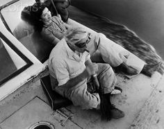 Aristotle Onassis and Jacqueline Onassis cruising the Nile River in Egypt, 1974.