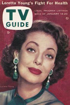 TV Guide: January 14, 1956 - Loretta Young