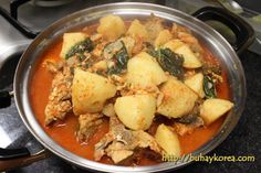 Gamjatang with potatoes ㅋㅋㅋ