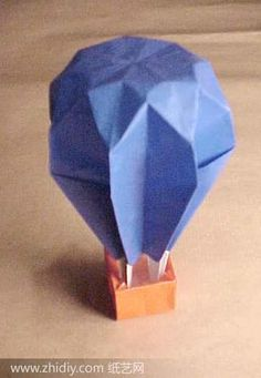 origami hot air balloon. if i had those skills.