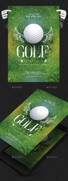 Most up-to-date Totally Free golf tournament ideas Concepts When searching for an exciting (and productive) strategy to boost cash to get a a good cause and also firm, nonetheless are tired of internet hosting . Thema Golf, Sports Flyer, Event Flyer Templates, Golf Gifts, Men Gifts, Photoshop Design, Golf Outfit, Golf Ball, Invitation Design