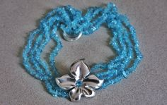 Tiare'   apatite necklace  with handmade silver pendent  http://www.mimietoile.it/en/shop/tiare/