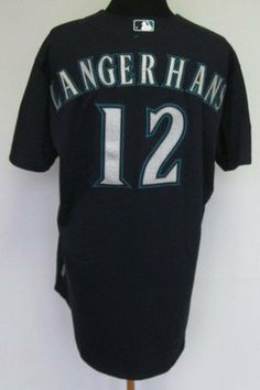 2011 Seattle Mariners Ryan Langerhans  12 Game Issued Blue Alternate Jersey  - Game Used MLB Jerseys by Sports Memorabilia.  170.33. e6bed7843