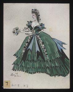 Costume designs by Cecil Beaton for the Metropolitan Opera's 1966 production of Verdi's La traviata From the V&A Theatre Costumes, Ballet Costumes, Movie Costumes, Cool Costumes, Vintage Costumes, Amazing Costumes, Costume Design Sketch, Cecil Beaton, Metropolitan Opera
