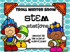 """No Trouble with Trolls here! Three fun winter STEM stations for your builders to create! From Troll needing help with a broken shovel...warming troll's poor cold toes as well as  needing a sled for some winter fun...these activities get eveyone """"snow"""" excited!Take a look at the preview for everything you need for these stations to be set up."""