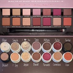 Colourpop dupes for the ABH modern renaissance pallette / Tube Photography Colourpop Dupes, Eyeshadow Dupes, Drugstore Makeup, Makeup Brands, Colourpop Palette, Lipstick Dupes, Beauty Make-up, Beauty Dupes, Beauty Products