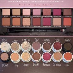 Colourpop dupes for the ABH modern renaissance pallette / Tube Photography Colourpop Dupes, Eyeshadow Dupes, Makeup Brands, Drugstore Makeup, Colourpop Palette, Lipstick Dupes, Makeup Goals, Makeup Inspo, Makeup Inspiration