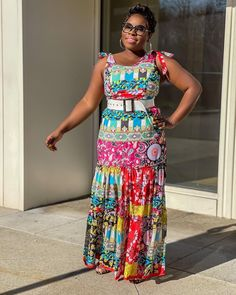 Printed maxi dress | For more style inspiration visit 40plusstyle.com