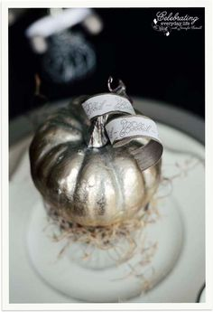 A Cinderella Inspired Elegant Halloween Dinner Party {Silver Pumpkin Decor} | Celebrating everyday life with Jennifer Carroll