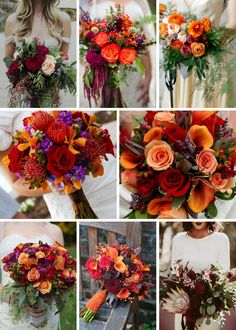 gorgeous fall wedding bouquets Theme Weddings To Die For Autum Flowers, Orange Wedding Flowers, Autum Wedding, Fall Wedding Bouquets, Wedding Blue, Wedding Dresses, October Wedding Colors, Fall Wedding Colors, Altar