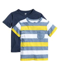 2-pack T-shirts | Bright blue | Kids | H&M US