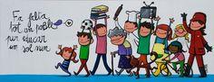 Pintura mural amb en Joan Turu - EscolaJoanXXIII - Álbumes web de Picasa