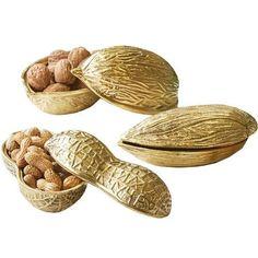 super cute gift idea or stocking stuffer— Go Nuts! Gold Peanut, Almond & Walnut Covered Box