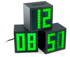 ThinkGeek Matrix Cube Alarm Clock