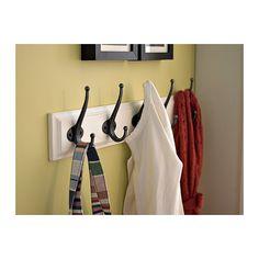 Coat closet with additonal hooks for kod's coats LEKSVIK Rekje met 5 haken IKEA