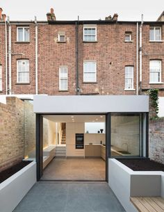 Basement extension by Architects London House Extension Design, Extension Designs, Extension Ideas, Victorian Terrace, Victorian Homes, Residential Architecture, Architecture Design, English Architecture, Basement Flat