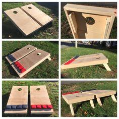 Cornhole Boards with Bags Plain sets Diy Yard Games, Backyard Games, Diy Games, Diy Cornhole Boards, Cornhole Set, Outdoor Fun, Outdoor Games, Outdoor Ideas, Small Blankets