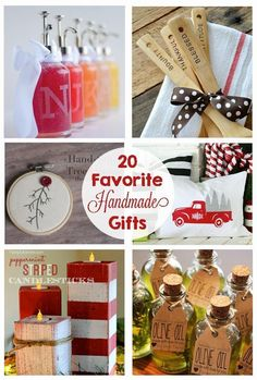 20 Favorite Handmade Christmas Gifts - teacher gift, neighbor gifts, ornaments, pillows, christmas decor, diy nativity, scarf, and so much more!