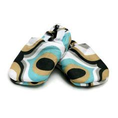 Handmade fabric shoe(swirly)Newborn £11.00