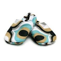 Handmade fabric shoe(swirly)Newborn £11.00