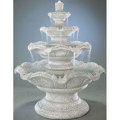 Henri Studio Tiered Cast Stone Quattro Classic Waterfall Fountain ...
