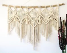 *sold* MAYA is my latest large scale piece, she is huge! With her driftwood measuring she would make an amazing bedhead! Macrame Art, Macrame Design, Macrame Projects, Macrame Knots, Micro Macrame, Macrame Wall Hanger, Macrame Curtain, Large Macrame Wall Hanging, Deco Boheme