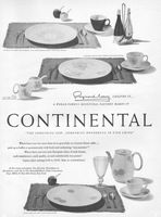 Rosenthal Continental Place Settings 1954 Ad Picture