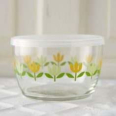 Tulip Glass Storage Bowl in New House + Home at Terrain