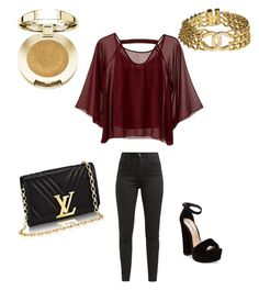 """""""Sin título #65"""" by camila-radino on Polyvore featuring moda, Traffic People, Levi's, Steve Madden, Chanel y Milani"""