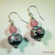 Swirls of color lampwork earrings-A169 by PeriStylingS on Etsy https://www.etsy.com/listing/242658245/swirls-of-color-lampwork-earrings-a169