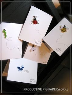 Getting ready for Valentine's with these cute LOVE BUGS Quilling Cards. Check them out on my Etsy store!