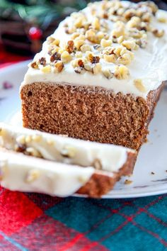 Starbucks Gingerbread Loaf: This moist gingerbread cake has the perfect amount of spice,and is smothered in a rich cream cheese frosting.