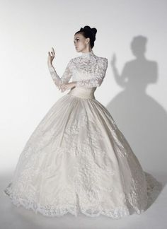 Lace Strapless Ballgown with Sweetheart Neckline & Detachable Bolero