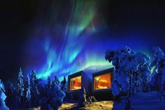 Arctic TreeHouse Hotel - 9 Incredible places to stay in Finnish Lapland Places To Travel, Places To See, Luxury Tree Houses, Unusual Hotels, Treehouse Hotel, Das Hotel, Arctic Circle, Best Hotels, Northern Lights