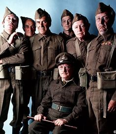 BBC tv screened the sit-com 'Dad's Army' from 1968 onwards. Set in a Home Guard unit during WW2, the main characters entered the national psyche. Actors Arthur Lowe, James Beck, John Lawrie, John Le Mesurier, Ian Lavender, Arnold Ridley and Clive Dunn played out one of the UK's finest comedy series, scripted by Jimmy Perry and David Croft.