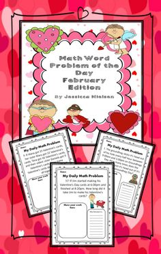 $This package includes a math word problem for each school day in February. The daily questions are a variety of addition, subtraction, multiplication, division, time, patterning, and perimeter questions. perfect for grades 3-4