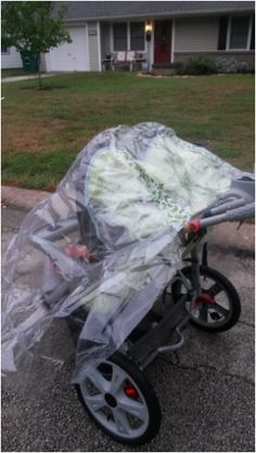 Diy Cheap Stroller Rain Cover For 2 I Couldn T Find