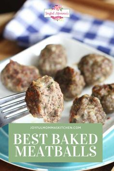These meatballs are so so yummy. You can make them fresh, and stash some in the freezer for another dinner! This recipe adds a little extra ingredient, that totally transforms the meatballs! You'll want to try it for yourself. #bestmeatballrecipe #meatballs #homemademeatballs #joyfulmommaskitchen #sidedished Meatball Bake, Meatball Recipes, Freezer, The Best, Side Dishes, Joy, Meals, Fresh, Dinner