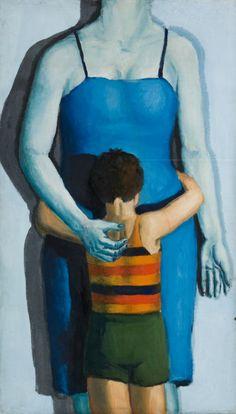 Andrzej Wroblewski - dziecko-z-zabita-matka - Child with Dead Mother But Is It Art, Portraits, Art And Illustration, Illustrations, Figure Painting, Painting Art, National Museum, Art Forms, Find Art