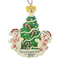 Favorite Grandparents Personalized Christmas Ornament *** You can find out more details at the link of the image.