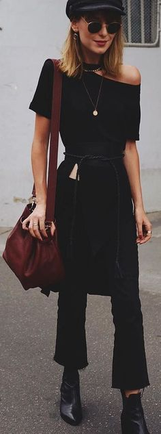 all black style for spring