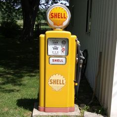 #ScioniA #ScioniM - While driving the iM we came across this cool Shell pump in a drive. We did not get yelled at so the shot was worth it. I am a sucker for these kinds of things...