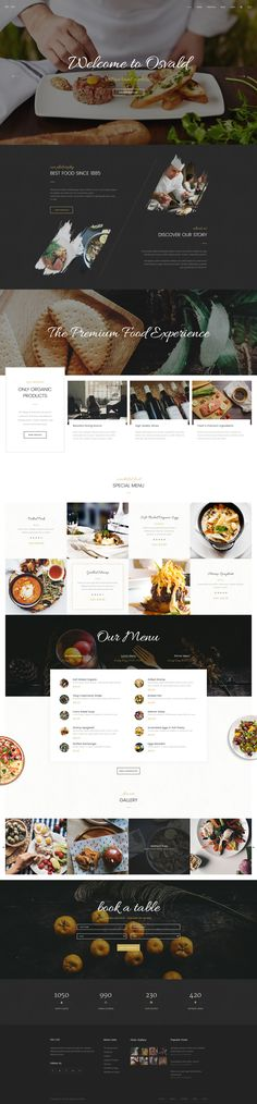 osvald multi purpose psd template restaurant websiterestaurant designpsd - Multi Restaurant Design