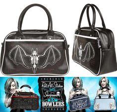 Bowler Purse / Bag by Sourpuss- Anatomical Bat