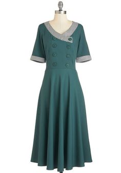 1940s Style Dress:  Thyme a Believer Dress