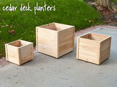 Cedar Deck & Patio Planters