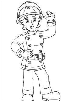 37 Best Fire Fighter Images Firefighters Coloring Pages Coloring